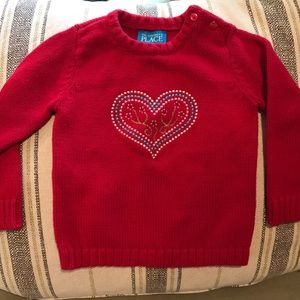 (TCP, 24 mo) red heart sweater ❤️❤️❤️